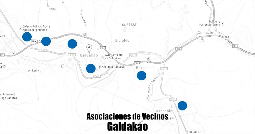mapa galdakao asociaciones Vecinos